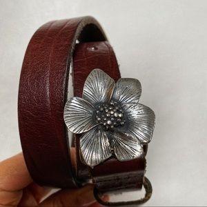 Gramicci dogwood buckle leather belt